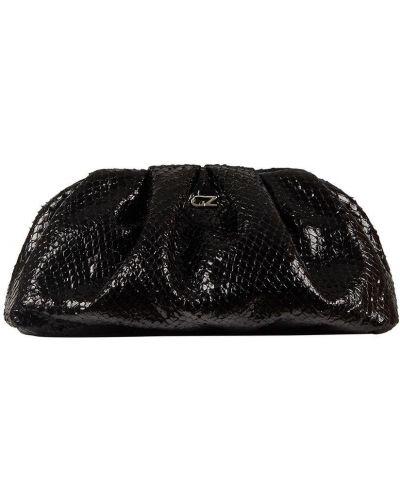 Черная кожаная маленькая сумка на молнии Giuseppe Zanotti