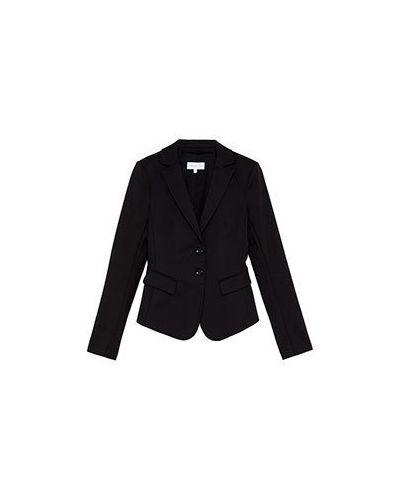 Черный пиджак хлопковый Patrizia Pepe