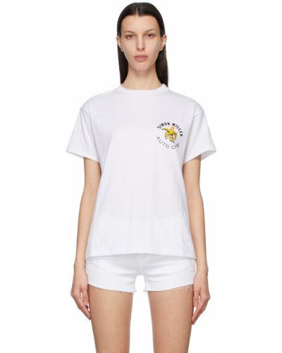 Biały t-shirt bawełniany krótki rękaw Simon Miller