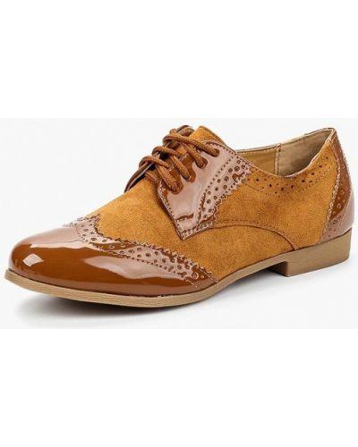 Кожаные туфли на каблуке велюровые Vh