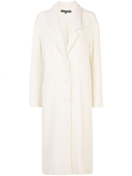 Однобортное свободное шерстяное пальто на пуговицах Sally Lapointe