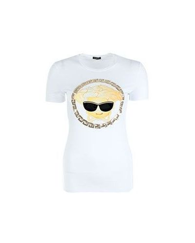 Футболка белая с вышивкой Versace