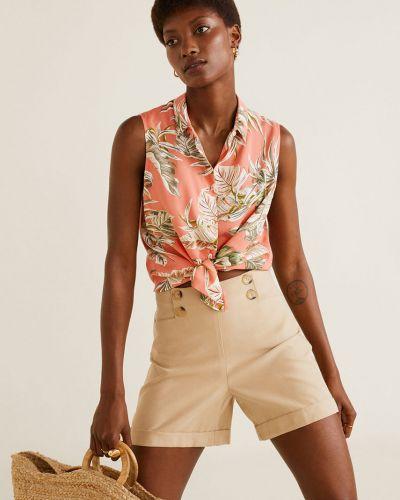 Блузка с коротким рукавом из вискозы классическая Mango