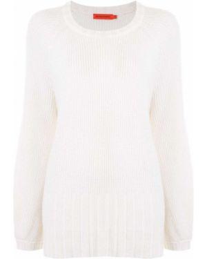 Ажурный свитер оверсайз со спущенными плечами в рубчик из вискозы Manning Cartell