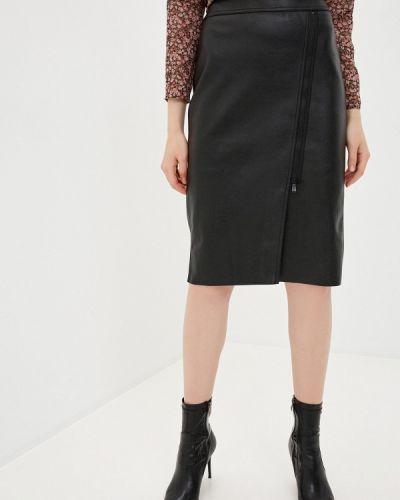 Черная кожаная юбка Gerry Weber