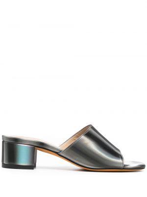 Sandały skorzane peep toe Maryam Nassir Zadeh