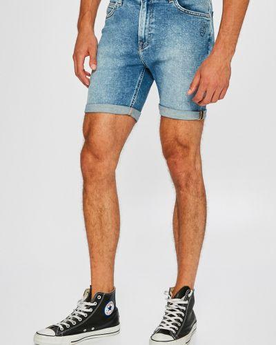 Джинсовые шорты хлопковые на пуговицах Lee