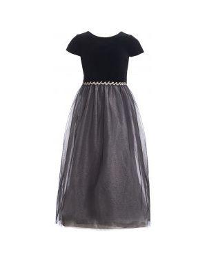 Платье с поясом сетчатое с V-образным вырезом Gulliver Wear