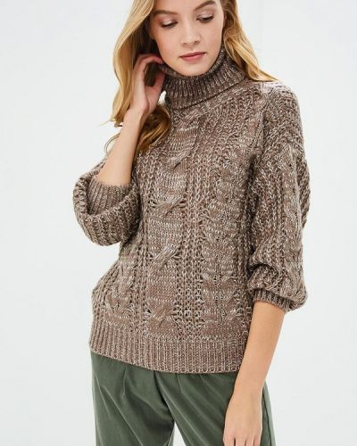 Коричневый свитер весенний Milanika
