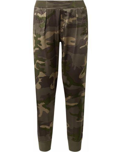 Шелковые зеленые брюки с карманами Atm Anthony Thomas Melillo