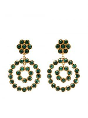 Zielone kolczyki sztyfty pozłacane Sylvia Toledano
