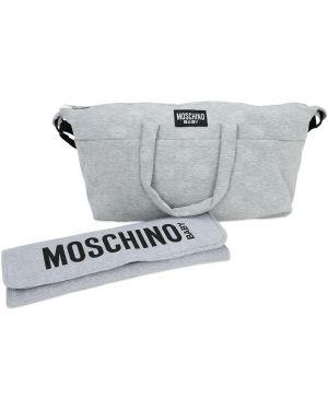 Plecak z logo z łatami Moschino