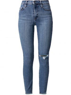 Облегающие синие хлопковые зауженные джинсы Nobody Denim