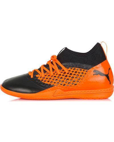 Оранжевые бутсы зальные Puma