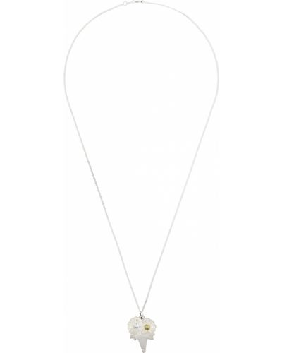 Naszyjnik łańcuch srebrny - biały Bleue Burnham