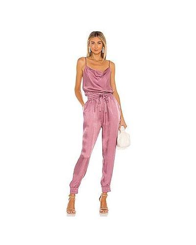 Хлопковый розовый комбинезон с карманами Cinq À Sept