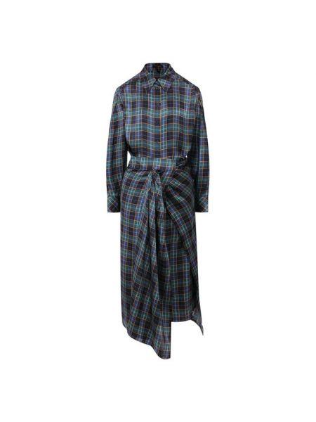 Платье платье-рубашка в клетку Escada
