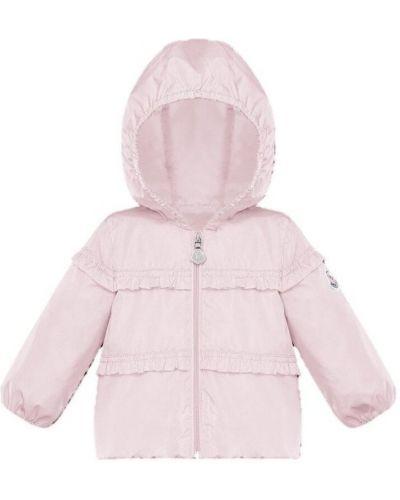 Różowa kurtka z kapturem Moncler
