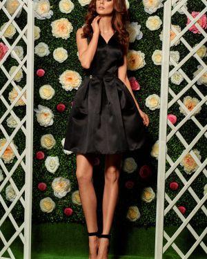 Czarna sukienka na wesele na komunię rozkloszowana Lemoniade