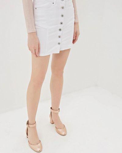 Джинсовая юбка - белая G&g