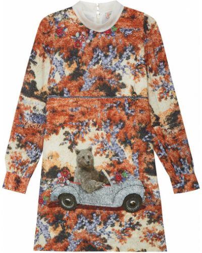 Платье мини со складками из вискозы Paul & Joe Sister