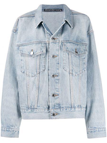 Джинсовая куртка длинная серебряная T By Alexander Wang