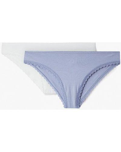 Слипы белые синий Nymos