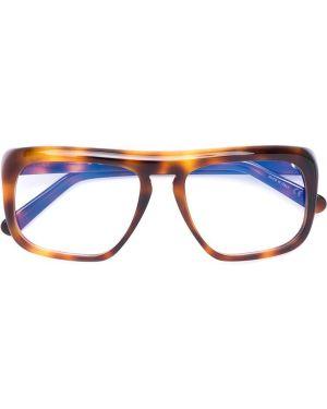 Очки хаки квадратные Marni Eyewear