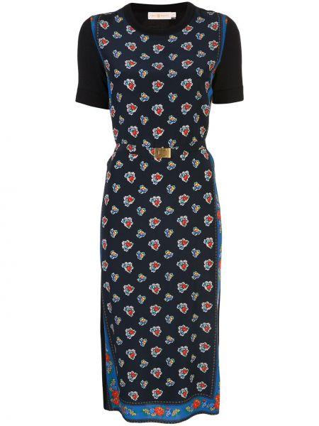 Платье мини миди с цветочным принтом Tory Burch