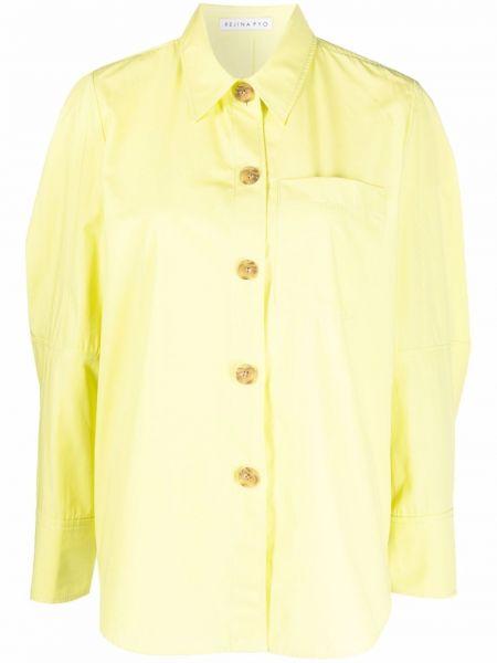 Рубашка с карманами - зеленая Rejina Pyo
