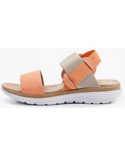 Оранжевые кожаные сандалии Francesco Donni
