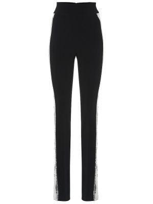 Черные брюки узкого кроя David Koma