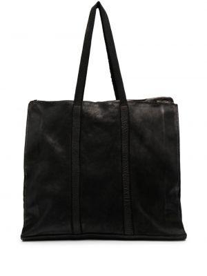 Czarna torba skórzana Guidi