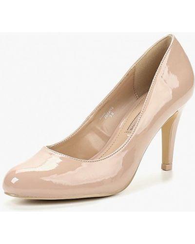 Кожаные туфли на каблуке осенние Dorothy Perkins
