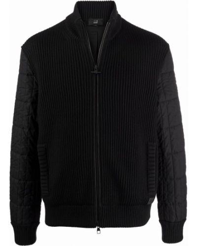 Czarna kurtka wełniana Dunhill