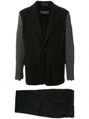 Черный костюмный костюм свободного кроя на пуговицах Junya Watanabe Comme Des Garçons Pre-owned