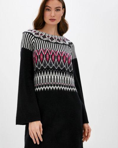 Вязаное черное платье Twinset Milano