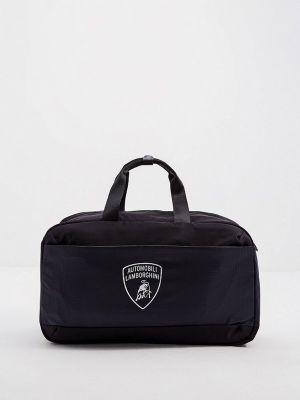 Синяя текстильная сумка Automobili Lamborghini