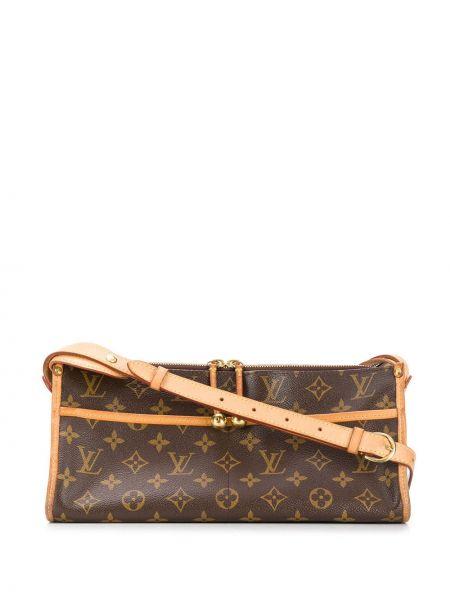 Кожаная сумка с леопардовым принтом на плечо Louis Vuitton