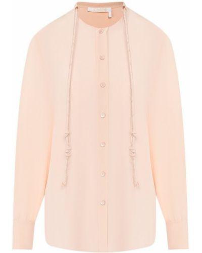 Блузка розовая шелковая Chloé
