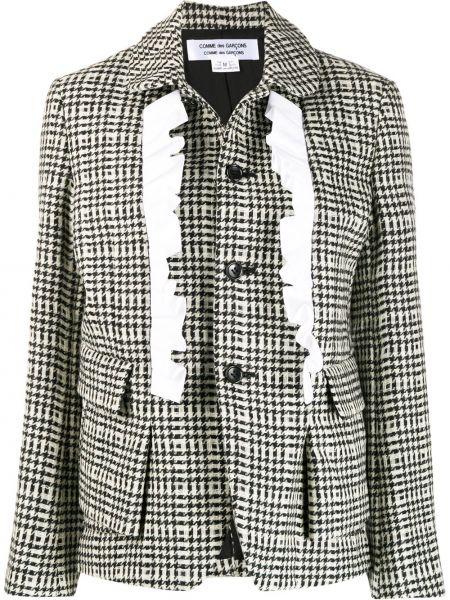 Прямая черная длинная куртка для полных Comme Des Garçons Comme Des Garçons