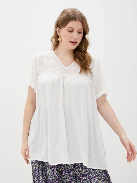 Блузка с коротким рукавом белая весенний Zizzi