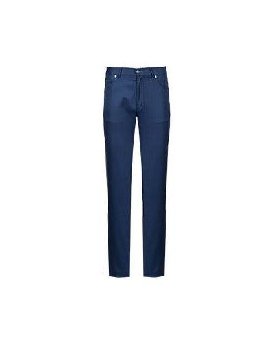 Классические брюки зауженные синий Castello D'oro