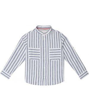 Льняная белая рубашка Brunello Cucinelli Kids