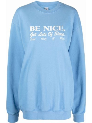 Niebieska bluza z nadrukiem z printem Sporty And Rich