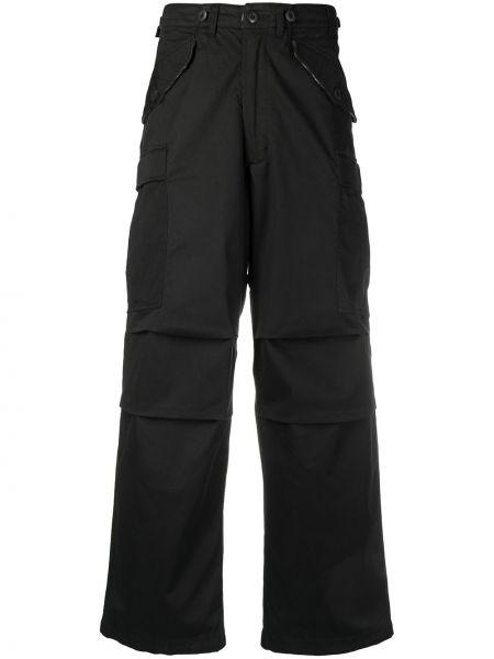 Хлопковые черные брюки милитари Maharishi