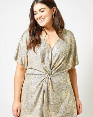 Блузка золотой Dorothy Perkins Curve