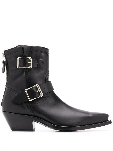 Kowboj buty z ostrym nosem czarne R13