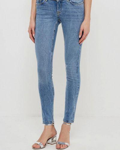 Голубые джинсы-скинни Noisy May