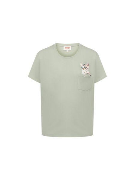 Хлопковая футбольная футболка хаки Paul&joe